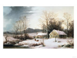 Farmstead in Winter  1860