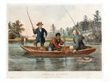 Catching a Trout  We Hab You Now  Sar!  1854  Published by Nathaniel Currier
