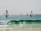 Wind Surfing at Santa Maria on the Island of Sal (Salt)  Cape Verde Islands  Africa