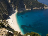 Myrtos Beach  the Best Beach for Sand Near Assos  Kefalonia (Cephalonia)  Ionian Islands  Greece