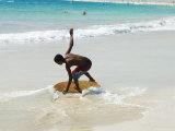 Beach Surfing at Santa Maria on the Island of Sal (Salt)  Cape Verde Islands  Africa