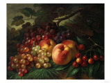 Still Life with Peaches and Grapes  1863