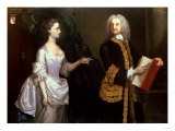 A Group Portrait of John Perceval  1st Earl of Egmont and His Wife Catherine J Aberry
