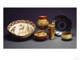 A Zuni Shalako Pottery Bowl  a San Ildefonso Circular Back Pottery Dish