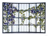 A 'Clematis' Leaded Glass Three-Sectioned Skylight  Akron  Ohio  Circa 1915