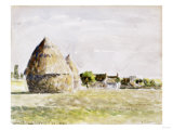 Haystack  Eragny Evening  Watercolour on Paper  1889