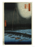 Fireworks at Ryogoku'  from the Series  'One Hundred Famous Views of Edo'