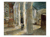 Church Interior  Brittany  1897