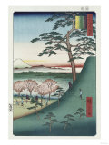 Original Fuji  Meguro'  from the Series 'One Hundred Views of Famous Places in Edo'
