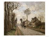 The Road to Saint-Cyr at Louveciennes  Circa 1870
