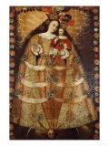 The Virgin of Pomata with a Rosary Virgen De Pomata Con Rosario  18th Century