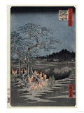 New Year's Eve Foxfires at the Nettle Tree  Oji'  from the Series  'One Hundred Famous Views of Edo