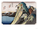 The Lake at Hakone'  from the Series 'The Fifty-Three Stations of the Tokaido'