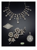 A Selection of Antique Diamond Jewellery Dating from Circa 1890