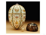 The Kelch Bonbonniere Egg Pictured with Its Surprises  Faberge  1899-1903