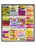A Selection of British Concert Posters  1960s