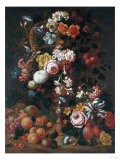 Roses  Dahlias  Convolvulus  a Tulip and Other Flowers  1689