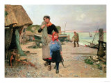 Fisherfolk Returning with Their Nets  1882