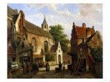 A Street Scene in Delft
