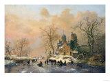 A Dutch Canal Scene  1859