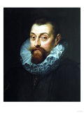 Portrait of a Man  Bust Length  in Dark Costume with White Ruff  1597-99