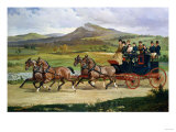 Coach and Four on the Open Road  1876