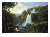 The Falls of Tivoli  1822