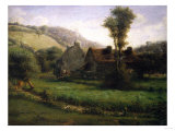 Cottage in a Landscape  Circa 1871