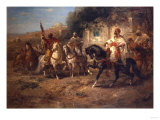 Arab Horsemen by a Fountain
