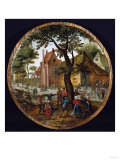 Peasants Dancing Round a Tree in a Village Street  1625