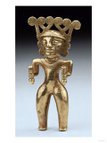 A Rare International Style Gold Figure of a Shaman  Circa AD 500  1000