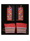 A Pair of Crow Beaded Cloth Woman's Leggings and a Pair of Ojibwa (Chippewa)