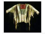 A Sioux Quilled and Fringed Hide Warrior's Shirt  Mid 19th Century