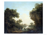 A River Landscape with Anglers and a Ferry