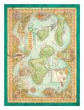 Maui Discovered  Vintage Map of Maui  Hawaii