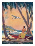 Hawaiian Fantasy  Hula Girl Calendar Page  c1941