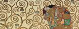 L'Accomplissement, frise dans l'hôtel Stoclet|Fulfillment, Stoclet Frieze, vers 1909 (détail) Reproduction d'art par Gustav Klimt