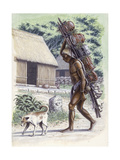 Mayan Man Carrying Pots on a Cacaste