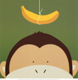 Singe, Peek-a-Boo X Reproduction d'art par Yuko Lau