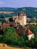 Village and Castle  Correze Region  Curemonte  Limousin  France