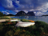 Rowing Boats on Lagoon Beach  Lord Howe Island  New South Wales  Australia