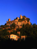 Entrechaux  Castle Ruins with Houses Below  Vaucluse  Provence-Alpes-Cote d'Azur  France
