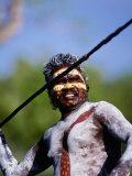 Aboriginal with Spear  Darwin  Northern Territory  Australia