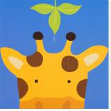Girafe, Peek-a-Boo VII Tableau sur toile par Yuko Lau