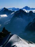 Looking toward Matterhorn from Aiguille du Midi  Chamonix  Rhone-Alpes  France