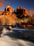 Sunset on Cathedral Rock  Oak Creek  Sedona  Arizona