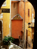 Village Laneway and House Walls  Roquebrune  Provence-Alpes-Cote d'Azur  France