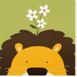 Lion, Peek-a-Boo IX Tableau sur toile par Yuko Lau