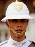 Ceremonial Guard in Uniform  Grand Palace  Bangkok  Thailand