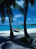 Outrigger Canoe on a Palm-Fringed Beach  Marshall Islands